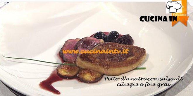 Petto d'anatra con salsa di ciliegie e foie gras ricetta MasterChef 3