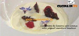 Ricetta Composta di limoni e crema yogurt menta e basilico di Federico per MasterChef 3 su Sky