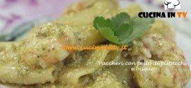 Paccheri con bisque e pesto di pistacchi ricetta Parodi per Molto Bene su Real Time