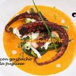 Polpo grigliato con gazpacho e stracciatella pugliese ricetta Almo da MasterChef 3 su Sky