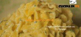 Tagliatelle con salsa ai formaggi ricetta Csaba dalla Zorza su Real Time