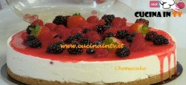 Cheesecake ricetta del cake designer di Real Time Renato Ardovino per il programma Torte in corso