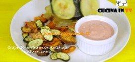 Chips di verdure con ketchup fatto in casa ricetta Junk Good su Real Time
