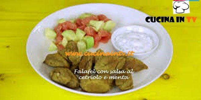 Falafel con salsa al cetriolo e menta ricetta Junk Good su Real Time