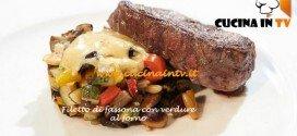 Ricetta Salvatore di Masterchef 3 dal titolo Filetto di fassona con verdure al forno