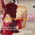 Ricetta Focaccia dolce all'uva fragola di Sergio Barzetti per La Prova del cuoco