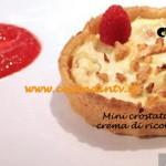 Mini crostata di riso con crema di ricotta e lamponi ricetta Ilenia per la trasmissione di cucina Masterchef 3