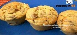 Muffin salati ai funghi e prosciutto ricetta TEssa Gelisio da Cotto e Mangiato