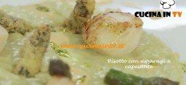 Ricetta Risotto con Asparagi e Capesante di Benedetta Parodi da Molto Bene su Real Time