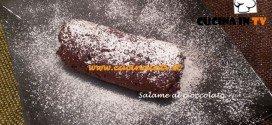 Salame al cioccolato ricetta Tessa Gelisio per Cotto e Mangiato