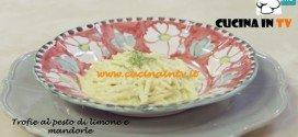 Trofie fresche al Pesto di Limone e Mandorle ricetta Benedetta Parodi da Molto Bene su Real Time
