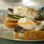 Uova in camicia su crostino ricetta Csaba dalla Zorza su Real Time
