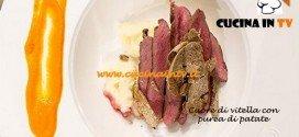 Masterchef 3 - Cuore di vitella con purea di patate ricetta Salvatore
