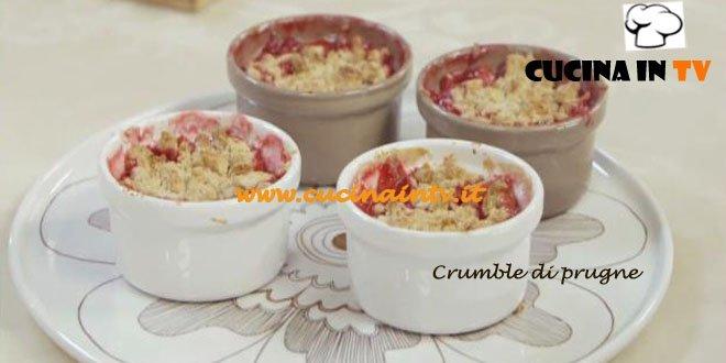 Crumble di Prugne Speziato ricetta Parodi Molto Bene