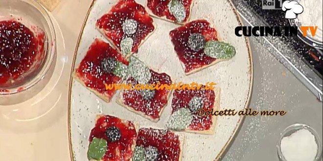 La Prova del Cuoco - Dolcetti alle more ricetta Moroni