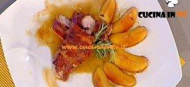 La Prova del Cuoco - Filetto di maialino alla senape con pancetta affumicata e mele caramellate ricetta Bertol