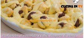 Bake Off Italia: ricetta Profiteroles al cioccolato e caffè ricoperto di crema pasticcera di Sergio