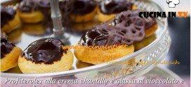Bake Off Italia: ricetta Profiteroles alla crema chantilly e glassa al cioccolato e passion fruit di Stephanie