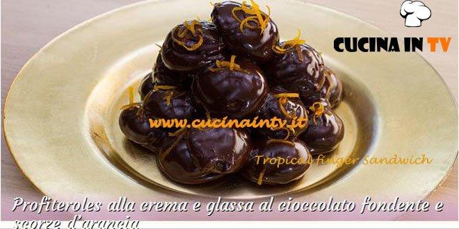 Bake Off Italia: ricetta Profiteroles alla crema e glassa al cioccolato fondente e scorze d'arancia di Alice