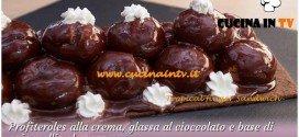 Bake Off Italia: ricetta Profiteroles alla crema glassa al cioccolato e base di ovis mollis al cacao di Federico