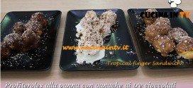 Bake Off Italia: ricetta Profiteroles alla panna con ganache ai tre cioccolati di Annamaria
