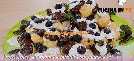 Bake Off Italia: ricetta Profiteroles alla panna e mirtilli con ganache al cioccolato e menta di Mimma