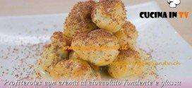 Bake Off Italia: ricetta Profiteroles con crema al cioccolato fondente e glassa al cioccolato bianco di Alfredo