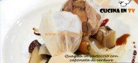 Masterchef 3 - Quaglia in cartoccio con caponata di verdure ricetta Bruno Barbieri