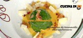 La Prova del Cuoco - Sformatini di tonnarelli alla carbonara ricetta Moroni