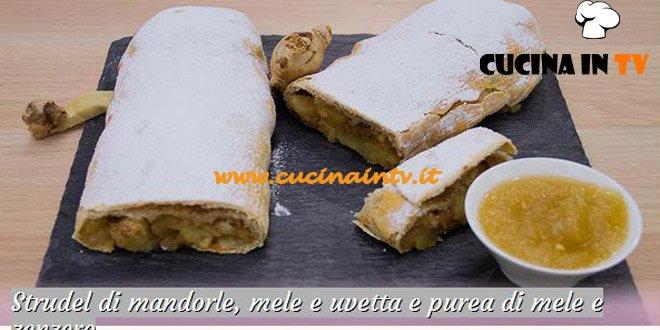 Bake Off Italia: ricetta Strudel di mandorle mele e uvetta e purea di mele e zenzero di Federico