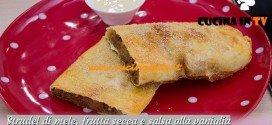Bake Off Italia: ricetta Strudel di mele frutta secca e salsa alla vaniglia di Annamaria
