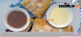 Bake Off Italia: ricetta Strudel di mele frutti di bosco e gocce di cioccolato di Claudio