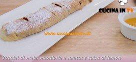 Bake Off Italia: ricetta Strudel di mele mandorle e uvetta e salsa al lemon curd di Giacomo