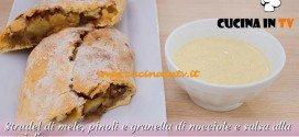 Bake Off Italia: ricetta Strudel di mele pinoli e granella di nocciole e salsa alla vaniglia di Maria Chiara