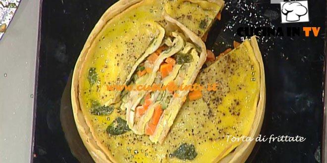 La Prova del Cuoco - Torta di frittate ricetta Messeri