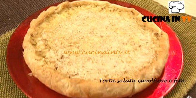 Ricetta Torta salata di cavolfiore e feta da Cotto e Mangiato di Tessa Gelisio