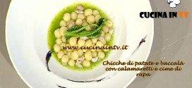 La Prova del Cuoco - Chicche di patate e baccalà con calamaretti e cime di rapa ricetta