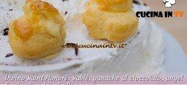 Bake Off Italia 2: ricetta Saint Honoré Sable al cioccolato e bignè alla crema di Stephanie