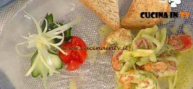 La Prova del Cuoco - Insalata di gamberi sedano avocado lime con pane ai 5 cereali ricetta Moroni