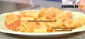 La Prova del Cuoco - Paccheri alla mia amatriciana ricetta Cattelani