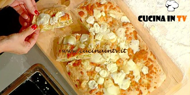 La Prova del Cuoco - Pizza ai 4 formaggi e verza ricetta Bonci