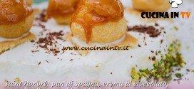 Bake Off Italia 2: ricetta Saint Honoré crema al cioccolato granella di pistacchio e bigné alla panna di Maria Chiara
