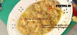 La Prova del Cuoco - Spezzatino di pollo al curry con cipolline in agrodolce ricetta Messeri