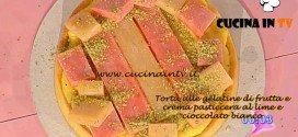 Dolci dopo il tiggì - ricetta della Torta alle gelatine di frutta e crema pasticcera al lime e cioccolato bianco di Luca Montersino