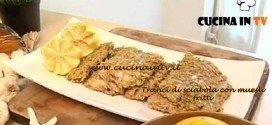 Cotto e Mangiato - Tranci di sciabola con muesli fritti ricetta Tessa Gelisio