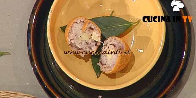 La Prova del Cuoco - Arancini al radicchio con cuore filante ricetta Barzetti