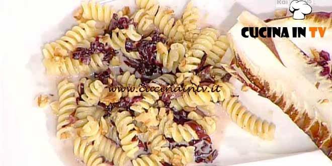 La Prova del Cuoco - ricetta Fusilli con radicchio e fondutina di taleggio