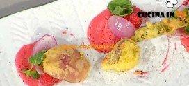 La Prova del Cuoco - ricetta Vegetali in pastella con maionese di lamponi