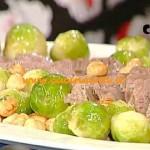 La Prova del Cuoco - Arrosto in salsa con cavolini di Bruxelles ricetta Messeri