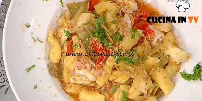 La Prova del Cuoco - ricetta Capunti agli scampi e carciofi
